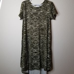 LulaRoe Green Carly Dress size Medium